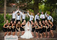 wonder if the bride and her bridesmaids know what the groom and groomsmen are doing behind them lol!