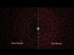 Asteroides cerca de la Tierra, aunque no es una imagen a escala, el Sol y los planetas del Sistema Solar interno se muestran en la ilustración, en donde los puntos rojos representan asteroides.