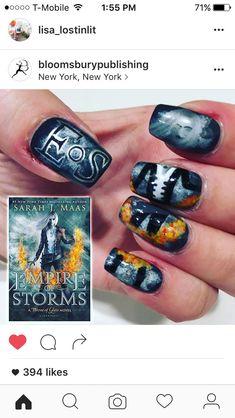"""Képtalálat a következőre: """"throne of glass nail art"""""""