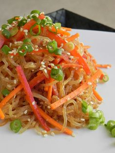 Almond Butter Sesame Noodles from 'Practically Raw.'  Directions to make raw OR cooked.