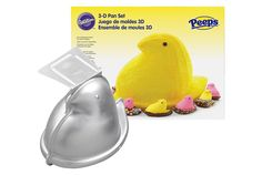 Peeps Products- Marshmallow Peeps Paraphernalia - 3D Cake Pan - No, you don't have to be the Ace of Cakes to pull off a 3-D Peep cake. Luckily, Wilton makes a 7-inch-tall cake mold ($23). All you have to do is fill it with batter, bake it, frost it and coat it with yellow sugar or shimmery yellow sprinkles. Head over to redbookmag.com for more Easter ideas.