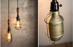Our trouble light is a vintage light fixture with reflector that is a beautiful industrial addition to any space! Vintage lighting is so popular and is a versatile way to brighten up your home. For more please visit, www.decorsteals.com OR www.facebook.com/decorsteals