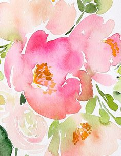 Bouquet of Pink Peonies — Yao Cheng Design: Watercolor Journal, Watercolor Artists, Watercolor Cards, Watercolor Flowers, Watercolor Paintings, Watercolors, Bird Paintings, Watercolor Portraits, Watercolor Landscape