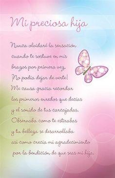 Para mi preciosa hija ✿⊱╮