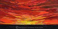 Yulia Hanansen stained glass mosaic  Sunset over Lake Michigan
