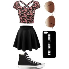 Pretty little thing by duh-its-aliyah on Polyvore featuring polyvore, fashion, style, Converse and Eloquii