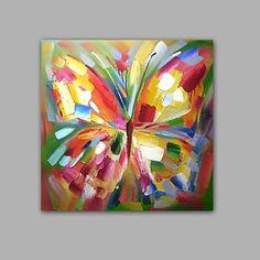 abstrait peint à la main / animal papillon moderne / classique un panneau toile peinture à l'huile
