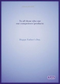 funny fathers day ads