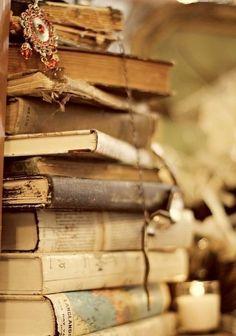 Readings books.