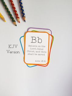 KJV Alphabet Bible Verse Flashcard Set King James Version