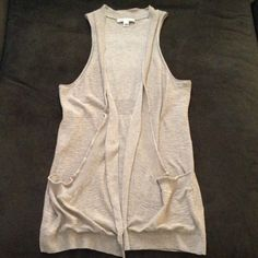 """Banana Republic 100% Cotton Vest Cotton vest with pockets in beige. Love the length on this- 31"""". Looks great with shorts! Great condition. Banana Republic Sweaters"""