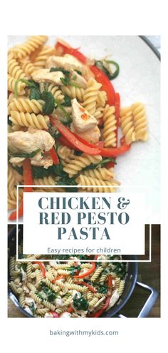 Chicken and red pesto pasta is a great family midweek dinner. It's light but full of flavour, thanks to the red pesto, and something both children and grown ups can enjoy. #pasta #dinner #kids dinner #midweek meal #pesto #chicken #healthy #family meal #fussy eater Easy Dinners For Kids, Quick Weeknight Dinners, Kids Meals, Easy Meals, Red Pesto, Tomato Pesto, Pesto Pasta, Chicken And Chorizo Pasta, Pesto Chicken