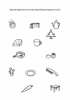 Bildkarten mit F im Anlaut - Dyslalie | Дети - игры, обучение и ...