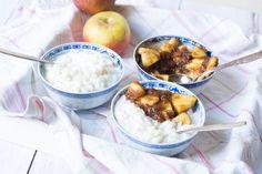Kokos Milchreis mit Apfelkompott