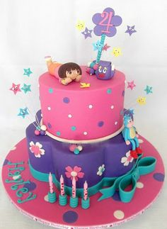tellastella / Tella S Tella : 12 Ideias de bolos Dora , a Aventureira