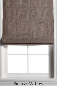Chocolate Roman Shade in a chic flat style. Made of premium Belgian Flax Linen, this custom window shade is hand-stitched by expert hands. Linen Roman Shades, Custom Roman Shades, Roman Curtains, Bedroom Blinds, Custom Windows, Flat Style, Fashion Flats, Window Coverings, Hands