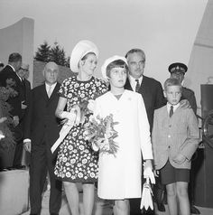 Montreal 1967   EXPO 67 Princess Grace, Prince Caroline, Prince Albert and Prince Rainier visiting the Monaco Pavillion at EXPO 67