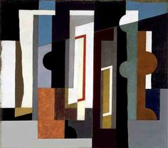 John Piper Abstract circa 1936 oil on canvas 22 x 20 x 25 ¾ in/ 55.8 x 50.8 x 65.5 cm