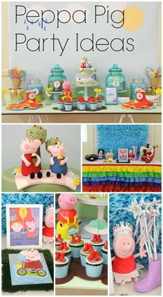 Fun Peppa Pig party ideas for a girl birthday!