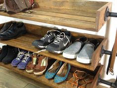 New Large Coat Closet Organization Shoe Racks 49 Ideas Entryway Coat Rack, Entryway Shoe Storage, Door Entryway, Coat Closet Organization, Shoe Organizer, Closet Shelving, Organizers, Shoe Rack Closet, Shoe Racks