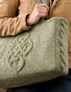 Viking Cable Bag - Knitting Patterns and Crochet Patterns from KnitPicks.com