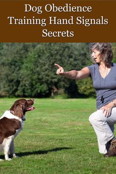 Dog Obedience Training Hand Signals Secrets, Dog Obedience Hand Signals Tips And Tricks