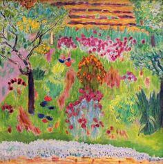 Jardín. Pierre Bonnard, ca. 1935. Museo Metropolitano de Arte, Nueva York. Estados Unidos. Posimpresionismo.