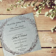 Beautiful Winter Wedding Day Invitation See more www. Lavender Cottage, Cottage Wedding, 15 December, Wedding Stationery, Reception, Wedding Day, Marriage, Invitations, Winter