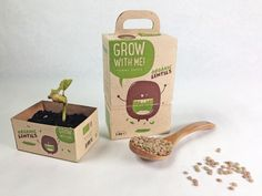 Eco Plant Packaging - 'Grow with Me' Herb Garden Kits Come in Double-Duty Biodegradable Boxes (GALLERY)
