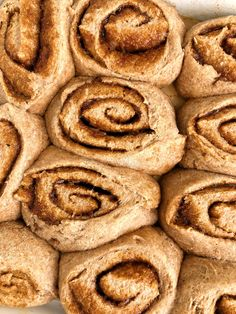 Healthy Vegan Cinnamon Rolls made with NO yeast! A delicious and easy cinnamon roll recipe that is ready in under 30 minutes! Plus no refined sugar!