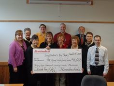 Hornbachers made a big donation to The Village Family Service Center.  https://www.facebook.com/thevillagefamily