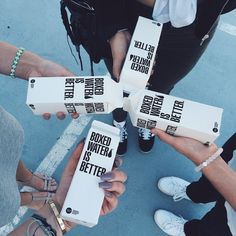 I love box water Bff Goals, Best Friend Goals, Squad Goals, Boxed Water Is Better, Water Aesthetic, Tumblr Quality, Box Water, Good Vibe, Tumblr Photography