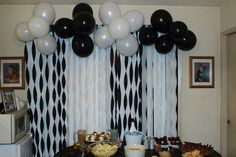 Black and white 21st birthday party