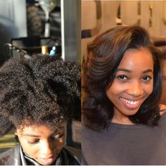 Anthony Elliot 'aka' AnthonyCuts (Virginia) - Voice of Hair Before and After of a Silk Press Transfo Natural Hair Blowout, Natural Hair Tips, Natural Hair Journey, Natural Hair Styles, Natural Beauty, Natural Girls, Au Natural, Natural Life, Permed Hairstyles