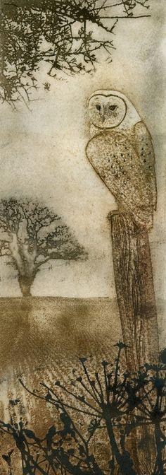Barn Owl - framed - Kerry Buck - Southwold Gallery