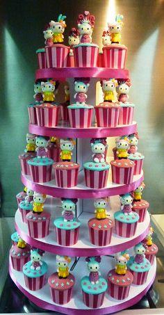 hello kitty carnivale cupcakes