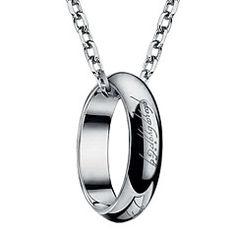 Muoti Titanium Steel Lord of the Ring Suunnittelu laserkaiverrus rengas kaulakoru