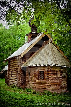 Russian Log House. Gotta bet snow white and the seven vertically challenged miners lived here.