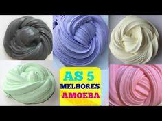 DIY Como Fazer AS 5 MELHORES AMOEBA 5 AMOEBA VIRAL DO CANAL 5 VIRAL SLIMES TESTED! ELENICE CARNEIRO - YouTube