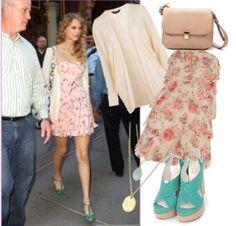 Love. I love Taylor Swift's style! So soft and feminine!