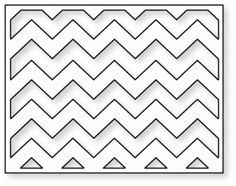 Papertrey Ink - Cover Plate: Chevron Horizontal Die