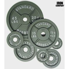 Best old school standard barbell Olympic weight plates for bodybuilding and weightlifting