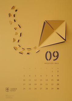 """""""Cut-Out"""" Wall Calendar on Behance"""
