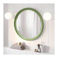 IKEA - STABEKK, Mirror, light brown, , Made of solid wood, which is a durable and warm natural material.Suitable for use in most rooms, and tested and approved for bathroom use.Safety film  reduces damage if glass is broken.