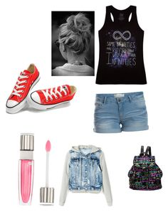 Untitled #132 by dewittcheer on Polyvore featuring polyvore, beauty, Lancôme, Pieces and Converse