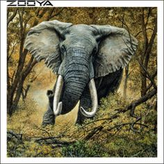 Cross Paintings, Easy Paintings, Number Drawing, Elephant Canvas, 5d Diamond Painting, Diamond Art, Drawing Skills, In The Tree, Free Time