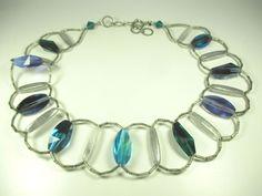 Langani Designer Collier Vintage Kette 60er 70er Halskette Boho necklace x45  N4