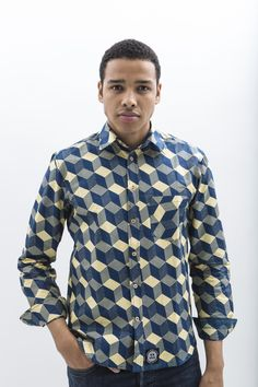 Manjai African Wax Print Shirt for Men by JEKKAH - find them now on www.jekkah.com