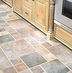 Faux Stone Kitchen Floors And Linoleum Flooring On Pinterest