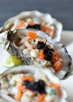Oyster and Scallop Tartare with Ginger Dressing